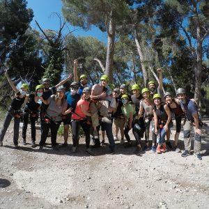Grupo en Vía ferrata el Chorro (Ardales, Málaga)